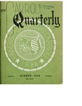 The Carroll Quarterly, vol. 1, no. 3 by John Carroll University