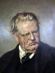 G. K. Chesterton Portrait, Detail by Edwin Swan