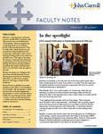 Faculty Notes - John Carroll University by John Carroll University