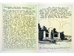 """Gettysburg Address"" Etchings with Memorial by Bernhardt Wall"